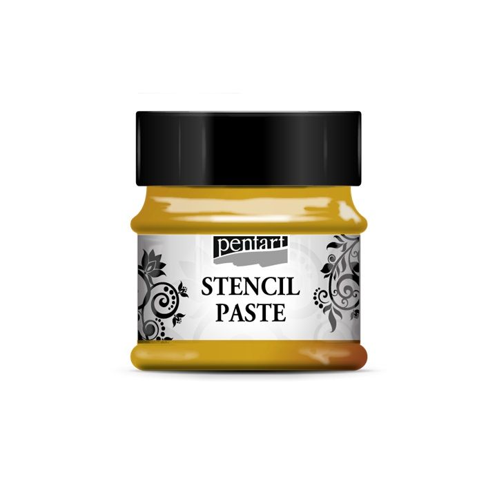 Πάστα για στένσιλ - Metalik - Stencil paste Pentart 50ml - gold