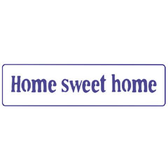 Στένσιλ PENTART Text - Home sweet home